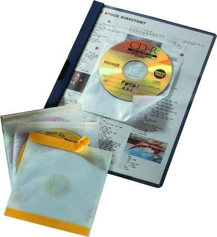CD-Hülle Durable 5210 Fix PP-Folie für 1 CD farblos transparent selbstklebend Pckg. á 10 Stück