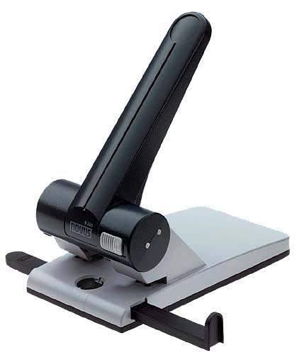 Locher Novus B265 80mm 65 Blatt schwarz mit Anschlagschiene