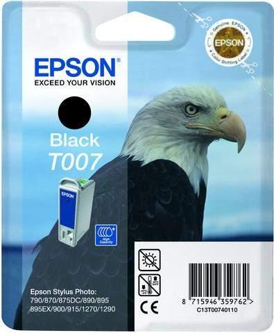 Tintenpatrone Epson T007 C13T00740110 schwarz 16ml 540 Seiten