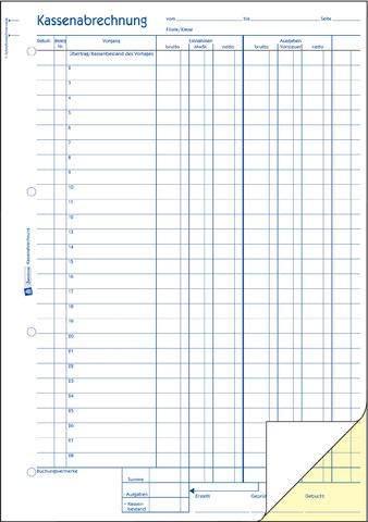 Kassenbuch A4h Einn./Ausg. 2fach sd 2x40Bl Zweckform 1757