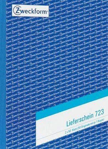 Lieferscheinbuch Zweckform 723 A5 2 x 50 Blatt Formularbuch mit Blaupapier