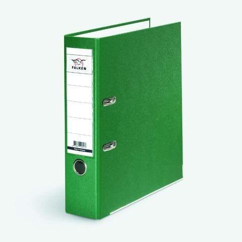 Ordner Falken PP-Color PP-kaschiert A4 80mm mit Einsteckrückenschild grün