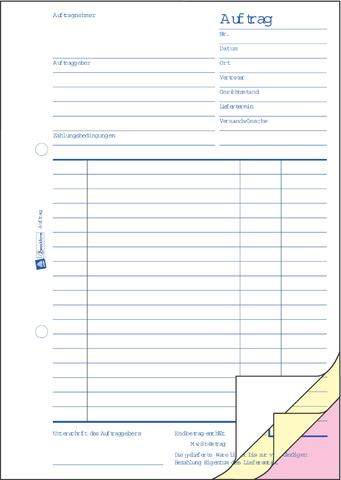 Auftragsbuch Zweckform 1726 DIN A5 hoch 3fach SD 3x40 Blatt