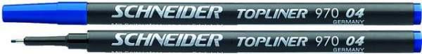 Finelinermine Mine Schneider Topliner 970 0.4mm blau 10 Stück