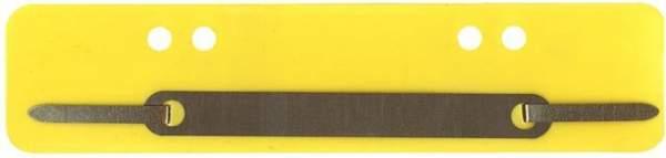 Heftstreifen PP Metalldeckleiste kurz 34x150mm gelb 100St.