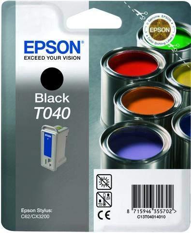 Tintenpatrone Epson T040 C13T04014010 schwarz 420 Seiten