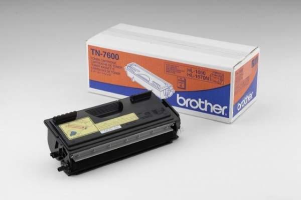 Toner ORIGINAL Brother TN7600 schwarz 6.500 Seiten