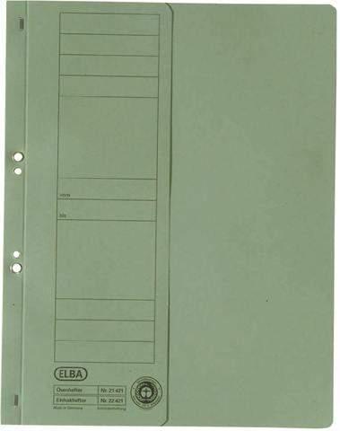 Ösenhefter Elba 21421 halber Deckel 1/2 Amtsheftung grün 50St.