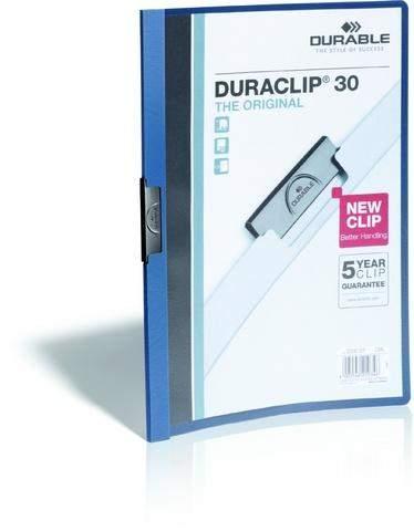 """Klemm-Mappe """"Duraclip"""" DIN A4 dunkelblau f. 30 Blatt / 1 Stück"""