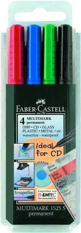 Projektionsschreiber Faber Castell S = 0,4mm permanent 4er Etui