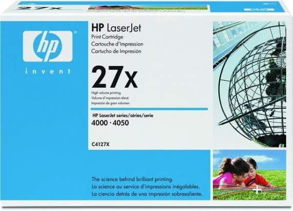 Toner HP 27X C4127X schwarz 10.000 Seiten