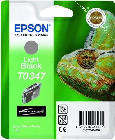 Tintenpatrone Epson C13T03474010 hellschwarz 17ml 440 Seiten