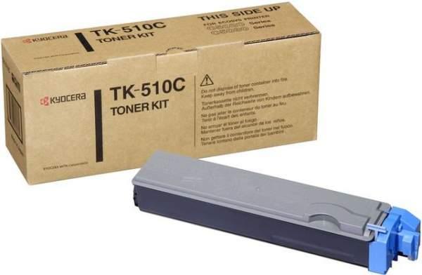 Toner Kyocera TK-510C cyan 8.000 Seiten f. FS-C5020N FS-C5025N FS-C5030N