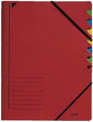 Ordnungsmappe Leitz 3907 Karton (RC) Gummizug A4 rot / 1St.