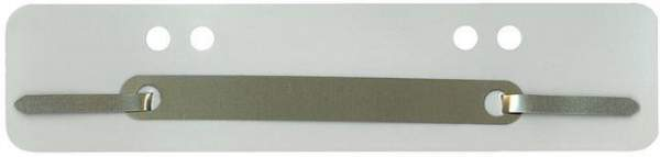 Heftstreifen PP Metalldeckleiste kurz 34x150mm grau 100St.
