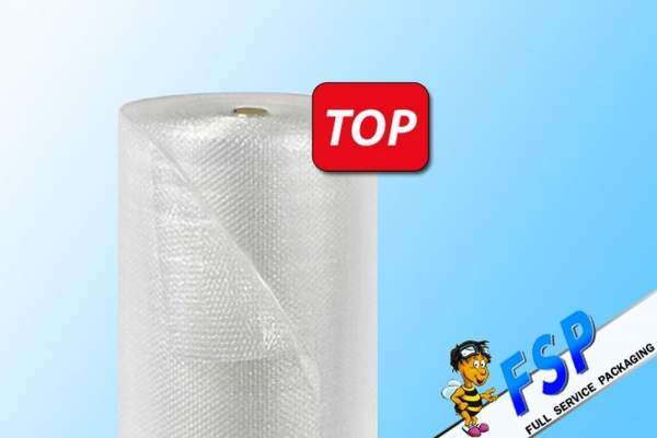 1x Rolle Luftpolsterfolie 100cm x 100m Verpackungsmaterial 2 Rollen Klebeband