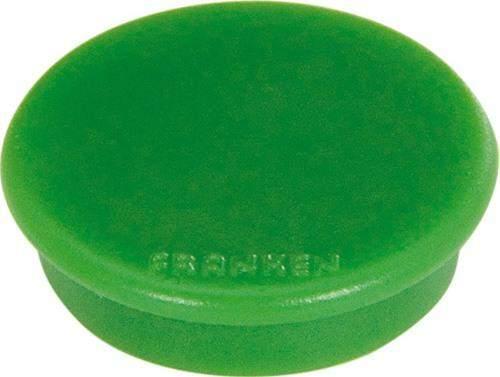 Magnet Ø 32 rund Haftkraft 800g grün (10 St.)