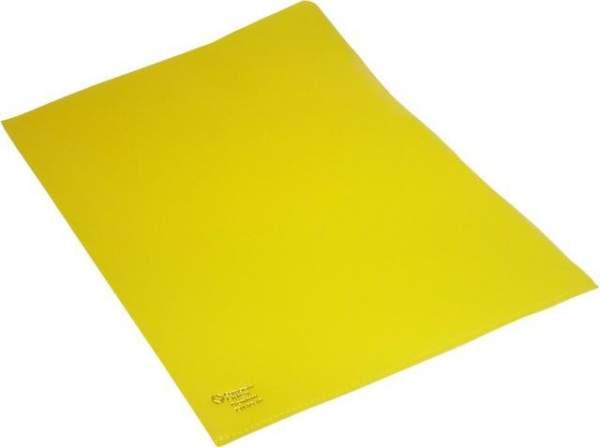 Sichthüllen A4 120 mµ genarbt oben + rechts offen gelb 100 Stück