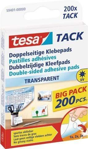 Doppelseitige Klebepads Tesa 59401 TACK 200 Stück je Packung