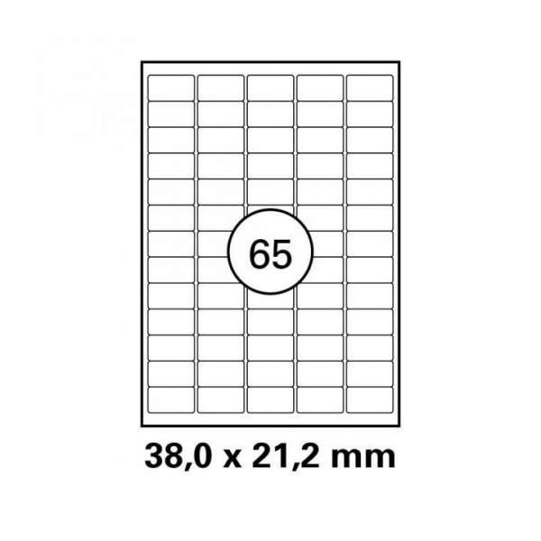 Etiketten 38,0x21,2mm auf DIN A4 Bogen