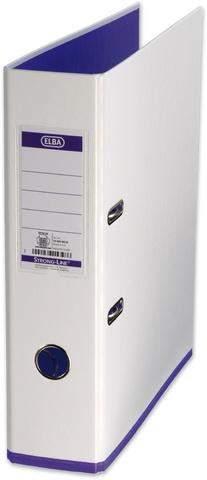 Ordner Elba myColour PP mit Griffloch A4 80mm weiß / violett lila