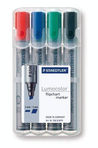 Flipchartmarker Lumocolor® 356 Staedtler Keilspitze 4er Etui