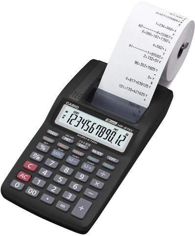 Tischrechner Casio HR-8TEC druckend 12stellig 99x196x41,1mm