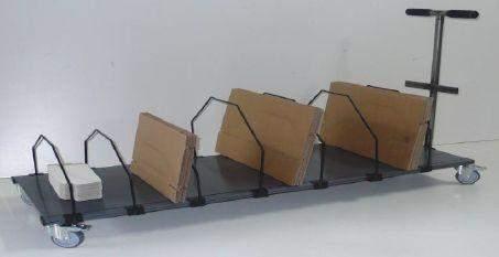 Kartonmagazin 6 Fächer mit Rollen fahrbares Regal für Kartons mit Transportgriff