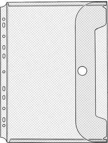 Prospekthüllen mit Druckknopf PP Eurolochung A4 0,2mm transparent Pckg á 10 St.