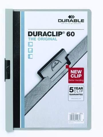 "Klemm-Mappe ""Duraclip"" DIN A4 grau f. 60 Blatt / 1 Stück"
