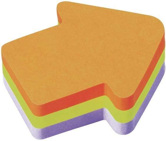 Haftnotiz Block Scotch 70x70mm Pfeil 225 Blatt Würfel neonfarben (1 Stück)