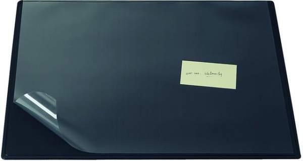 Schreibunterlage mit Vollsichtauflage 65 x 52 cm schwarz