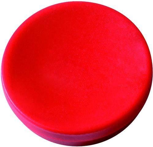 Magnet rund Ø 30mm Haftkraft 0,85kg rot (Pckg. á 10 Stück)