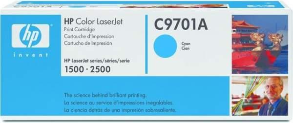 Toner HP C9701A f. Color LaserJet Serie 1500 2500 cyan 4.000Seiten