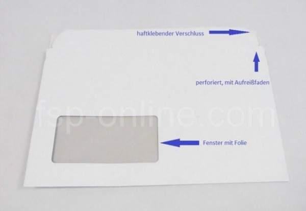 Versandtaschen aus Pappe mit Fenster f. CD's o.Hülle weiß CDR2-546510 (100 Stück)