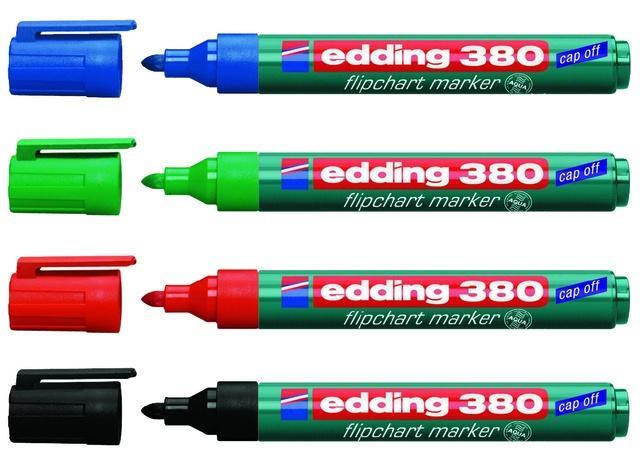 Edding Flipchart Marker Capp-Off 380 4Er-Etui Rundspitze