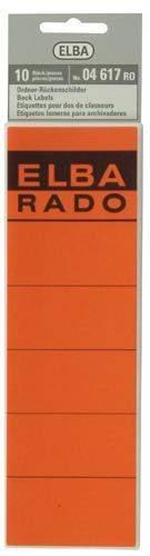 Rückenschilder Elba 04617 selbstklebend 190x59 rot Btl.=10 Stück