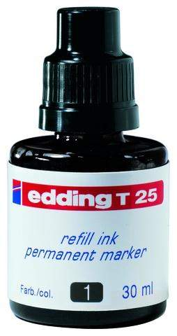 Nachfülltusche Edding T25 30 ml f. Permanentmarker schwarz 1Fl.