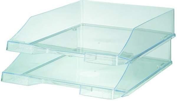 Ablagekorb brillant f. A4-C4 stapelbar hochglanz transparent 5 St.