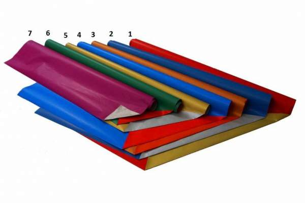 Geschenkpapier 70cmx2m 2-seitiger Druck Papier 65g Kleinrolle Grün - Rot (1 Rolle)