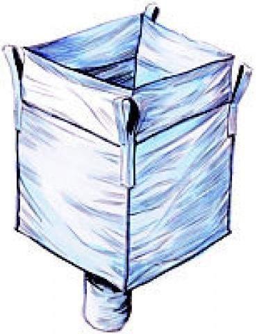 BigBag Schüttgutbehälter für Verpackungschips zum Aufhängen (ca. 1800 Liter)