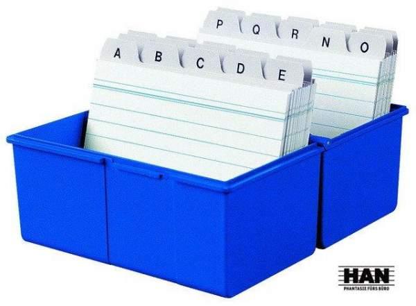 Karteikasten HAN A5 quer f. 300 Karten blau / 1 St.