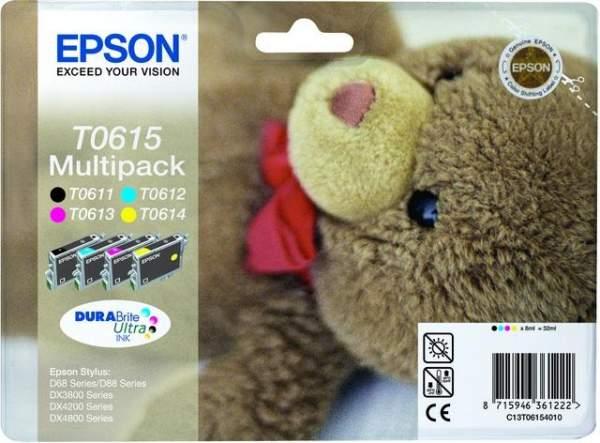 Epson Druckerpatronen Multipack T0615 C13T06154010 4er Pack