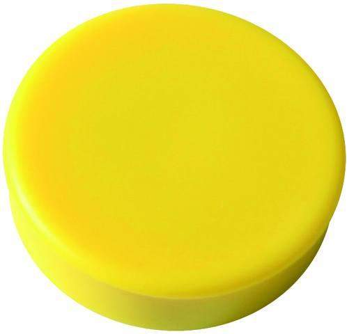 Magnet rund Ø 25mm Haftkraft 425g gelb (Pckg. á 10 Stück)