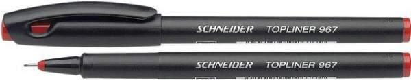 Fineliner Schneider TOPLINER 967 mit Kappe 0,4mm rot