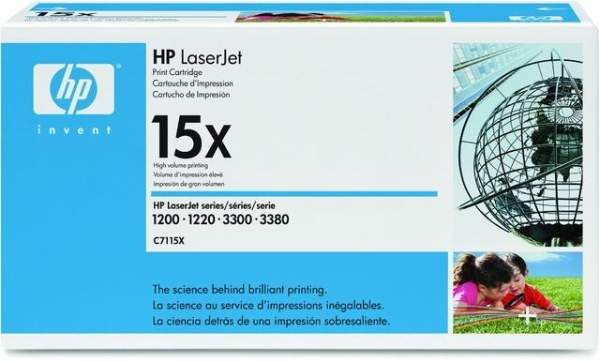 Toner HP 15X C7115X schwarz 3.500 Seiten für HP Laserdrucker