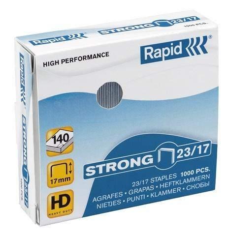 Heftklammern 23/17 Rapid STRONG Stahldraht verzinkt (VE=1000 St.)