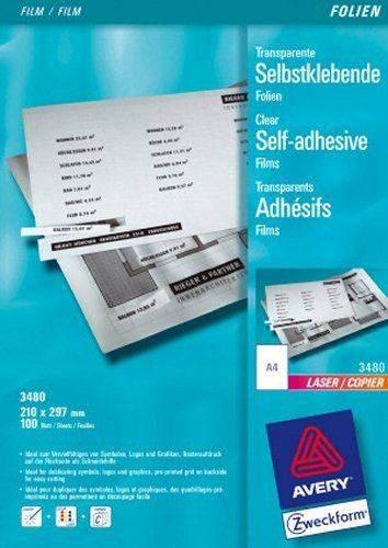 Kopierfolie + Laserfolie Zweckform 3480 A4 transp. sk VE: 100Bl
