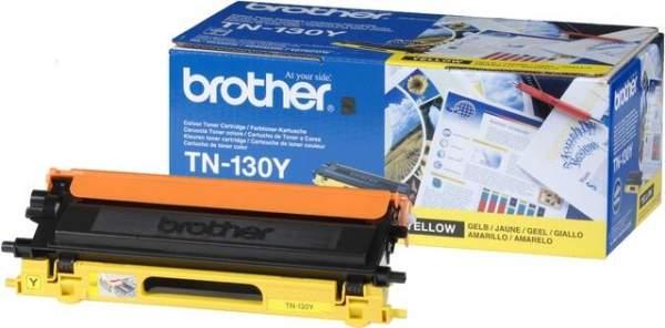 Toner Brother TN-130Y gelb 1.500 Seiten f. DCP-9040CN, HL-4040CN, HL-4050CDN, HL-4050CDNLT, MFC-9440