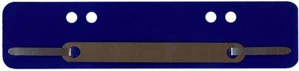 Heftstreifen PP Metalldeckleiste kurz 34x150mm blau 100St.